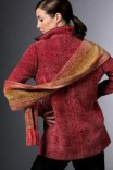 Hand woven jacket and scarf