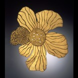 Description: Damascene(24K inlaid on Steel)Brooch, Brooch and Neck pieceDimensions: H:2.75 x W:2.25 x D:0.25 Inches