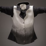 Description: silk fitted jacket with gradation airbrushDimensions: H:25.00 x W:18.00 x D:1.00 Inches