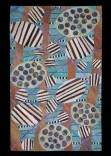 Description: One of a kind handtufted rug using many colors of wool yarn blended together in a looped pile punched into a backing cloth, latexed and lined.Dimensions: H:96.00 x W:60.00 x D:0.75 Inches