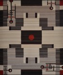 Description: Flatweave tapestry of hand-spun wool. Red and gold aniline dyed by the artist. All other colors are un-dyed, naturally occurring colors.Dimensions: H:84.00 x W:72.00 x D:0.10 Inches