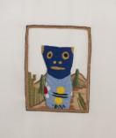 Description: Embroidery; cotton thread on silkDimensions: H:8.00 x W:5.00 x D:0.00 Inches