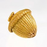 Description: Pendant - hand woven, hand fabricated, 18k & 22k yellow goldDimensions: H:2.40 x W:2.40 x D:2.40 Centimeters